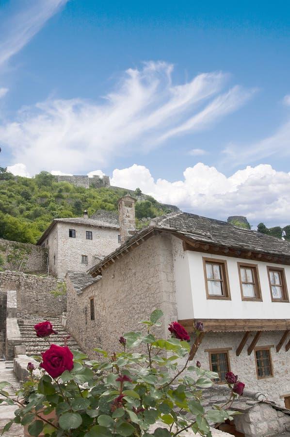 Pocitelj en by i Bosnien och Hercegovina Europa arkivfoto