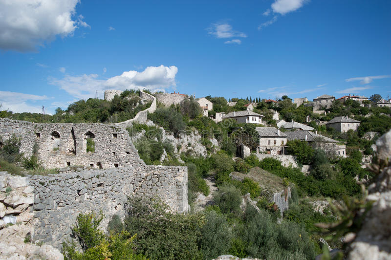 Pocitelj, old town in Bosnia & Herzegovina royalty free stock image