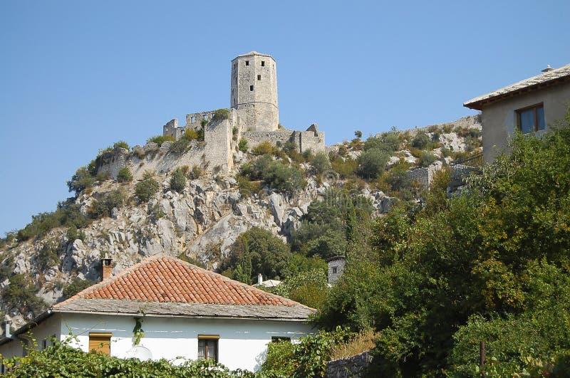 Pocitelj-Schloss - Bosnien Herzegovina stockbild