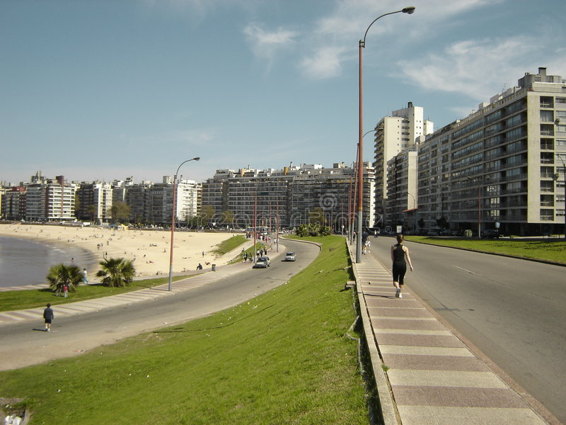 Pocitos Montevideo Uruguai imagem de stock royalty free