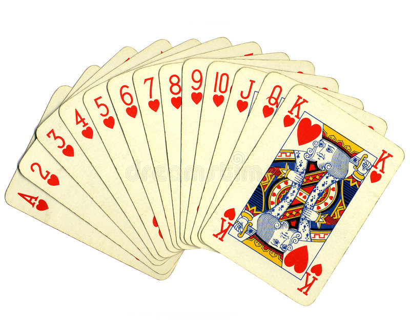 Pocker full scale cards royalty free stock image