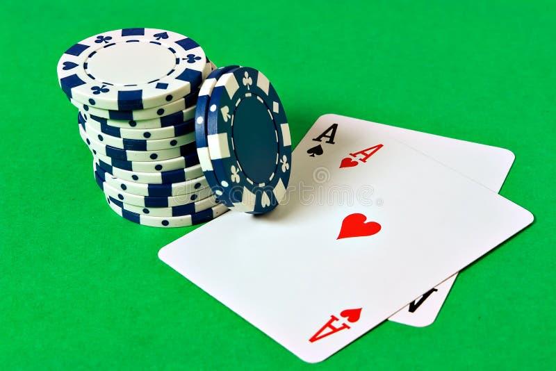 Pocket Aces royalty free stock photo