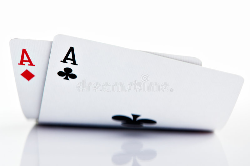 Pocket Aces royalty free stock image