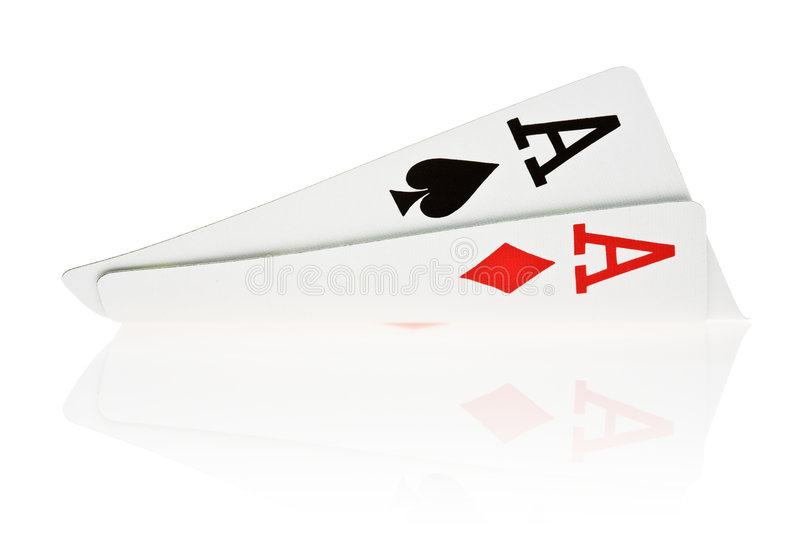 Download Pocket Aces stock image. Image of isolated, reflection - 3314331