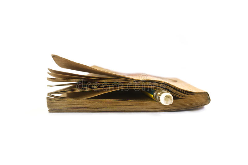 Pocket book with bookmark royalty free stock photography