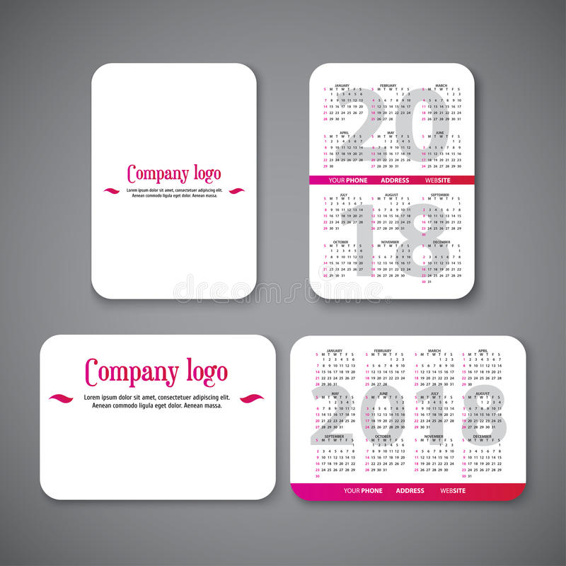 Pocket Calendar Template Stock Vector Illustration Of Diary 96316078