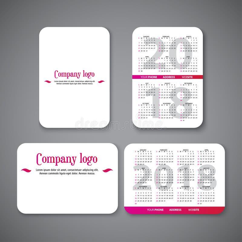 Pocket calendar template stock vector. Illustration of diary ...