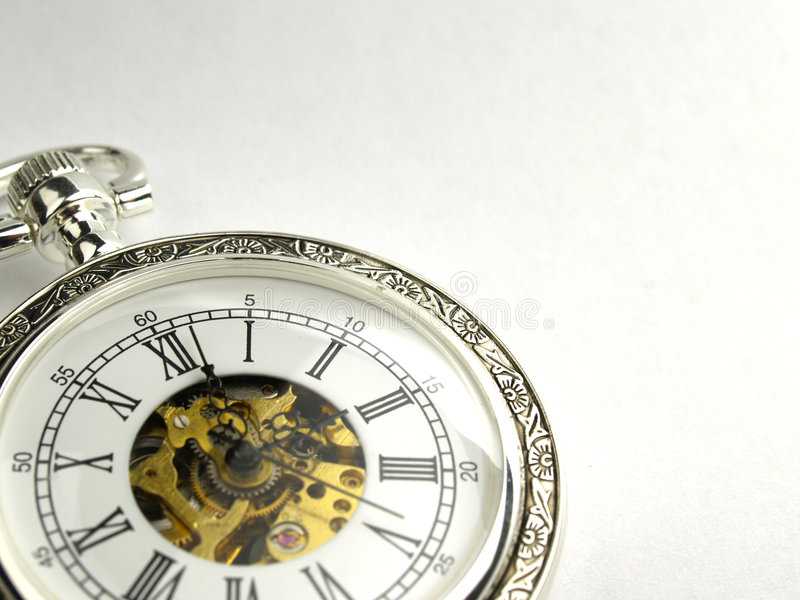 Pocket clock stock image