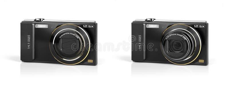 Pocket digital cameras. stock photography