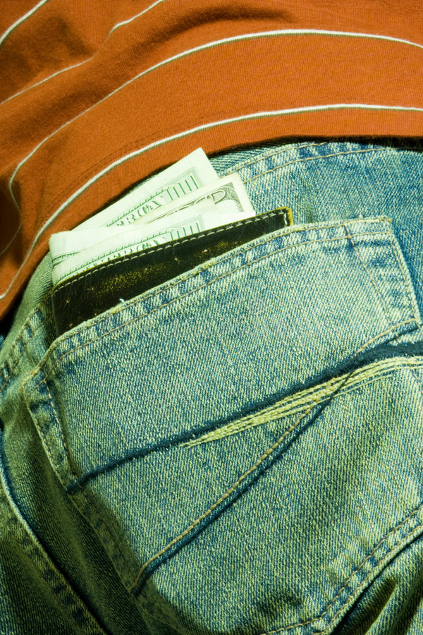 Pocket Full With Cash Stock Photography