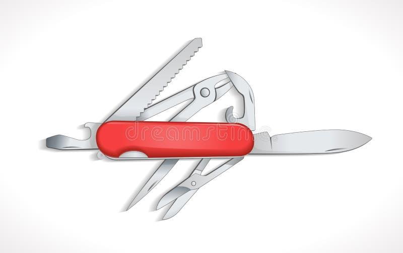 Pocket knife - multi tools royalty free illustration
