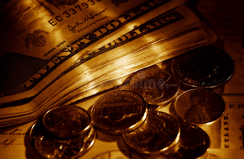 Pocket Money royalty free stock photos