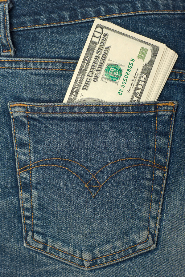 Download Pocket money stock image. Image of minor, worn, vertical - 5253603