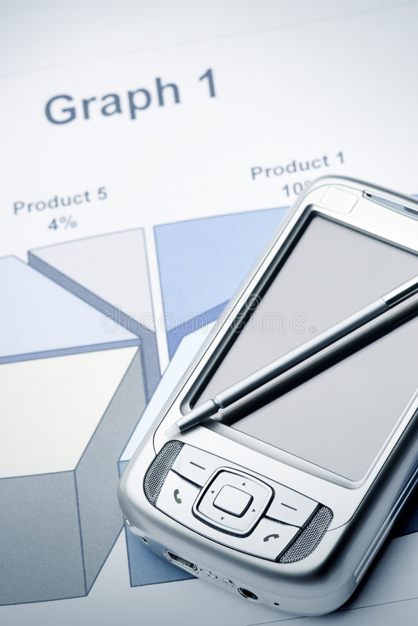 Free Pocket PC On The Graph Stock Image - 2925561