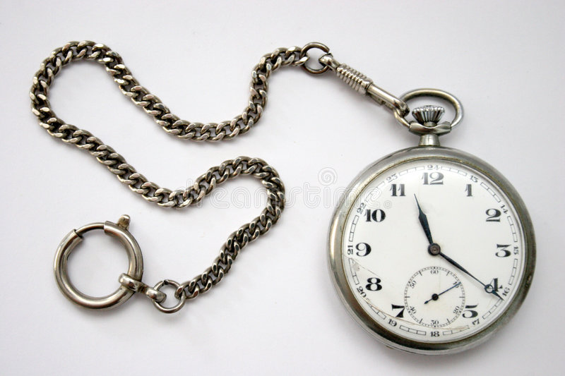 Pocket watch. In isolated stock photo