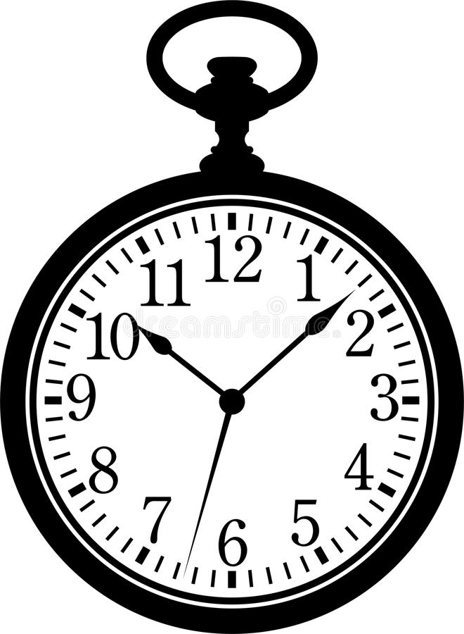 Download Pocket Watch stock vector. Image of hour, hand, minute - 16159593