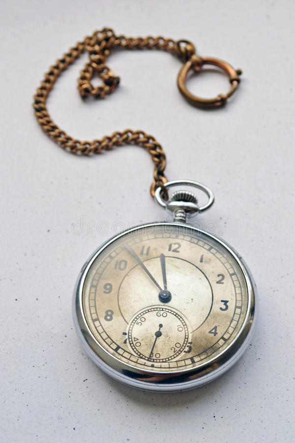 Pocket watch. Old pocket watch on a white background stock photography
