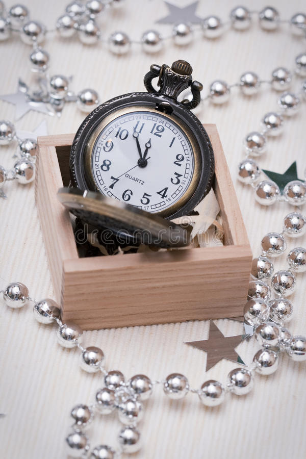 Pocket watch in a box royalty free stock photography