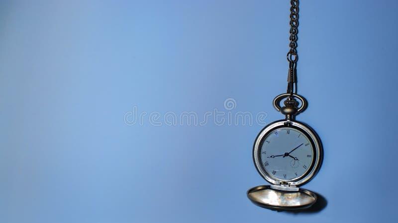Pocket watch blue royalty free stock photos