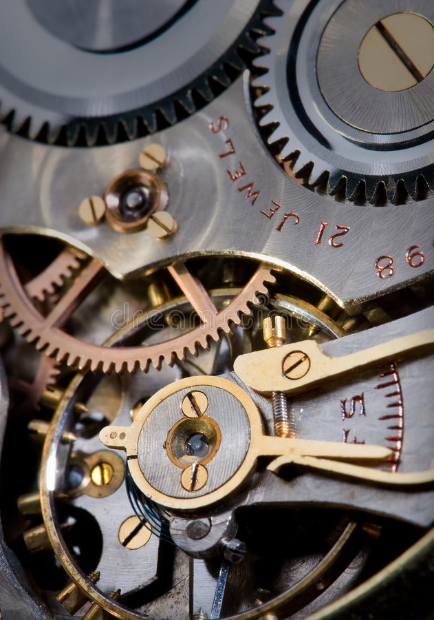 Pocket Watch Gears stock photos