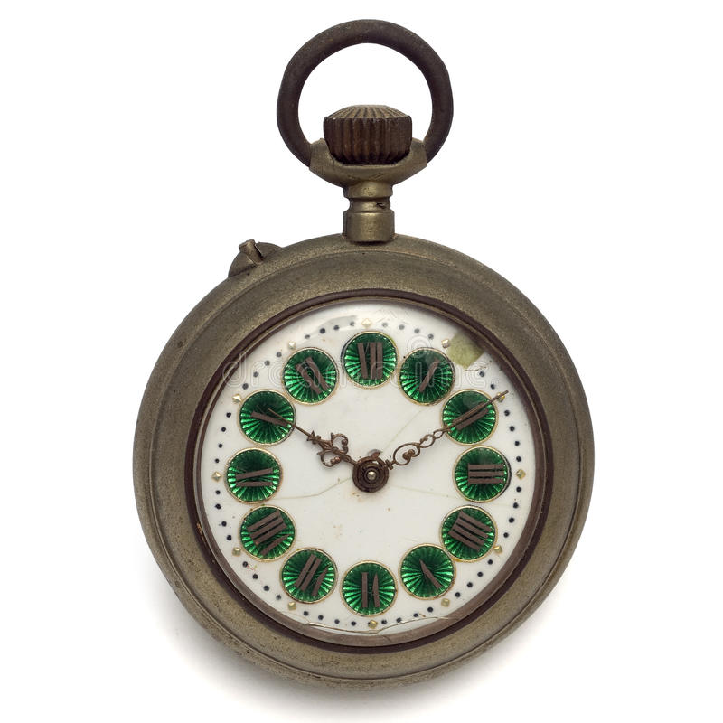 Pocket watch (isolated with clipping path) stock images