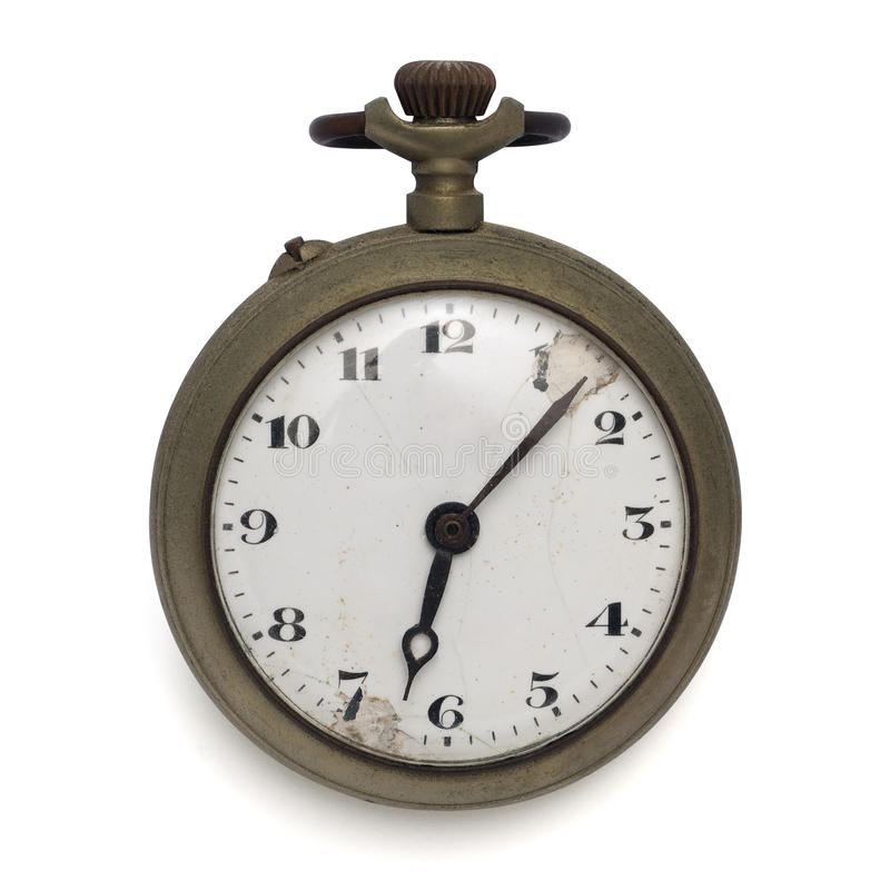 Pocket watch (isolated with clipping path). Old pocket watch by the time (isolated with clipping path stock photos
