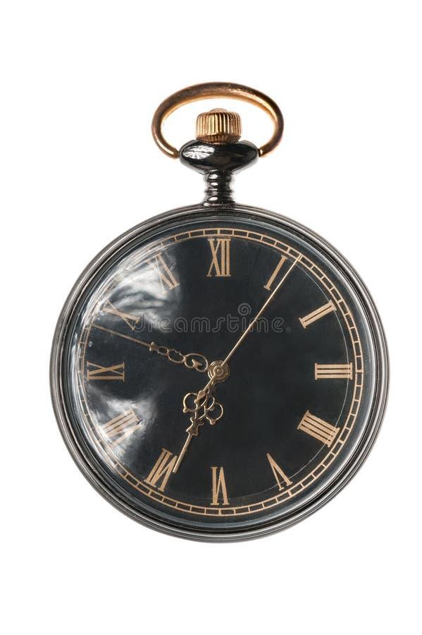 Pocket watch isolated. Old pocket watch isolated on white background stock image