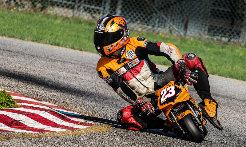 Pocketbike racing stock photo