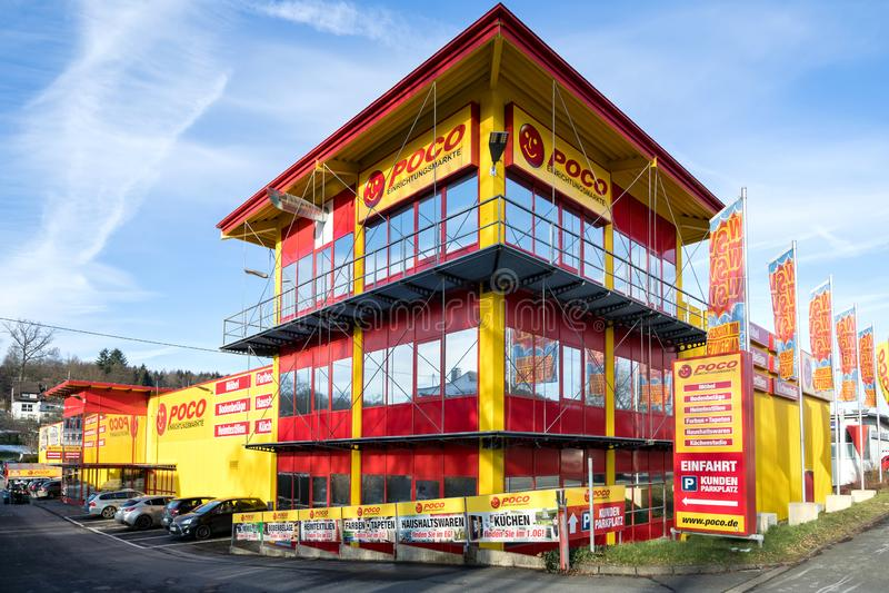 Poco家具店在克罗伊茨塔尔,德国 免版税库存照片