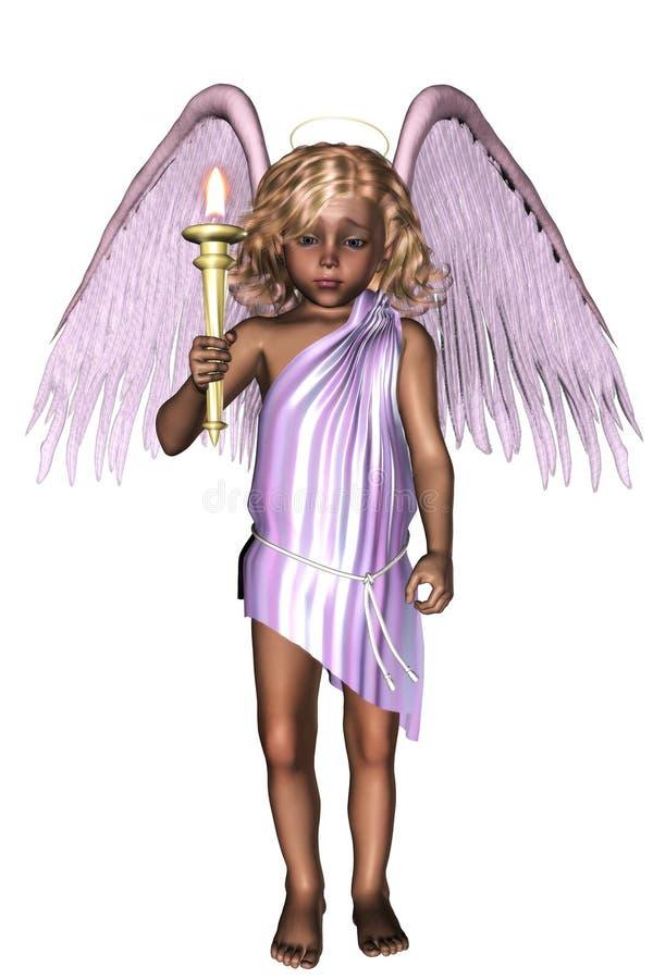 Poco ángel stock de ilustración