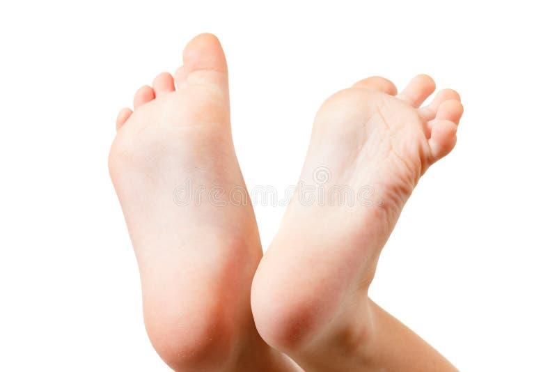 Poco amor de la familia de la pierna del bebé, cuerpo imagen de archivo