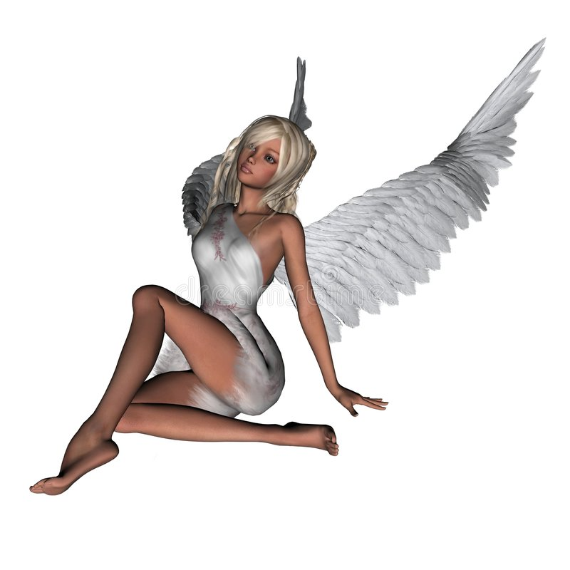 Poco angelo - 1 royalty illustrazione gratis