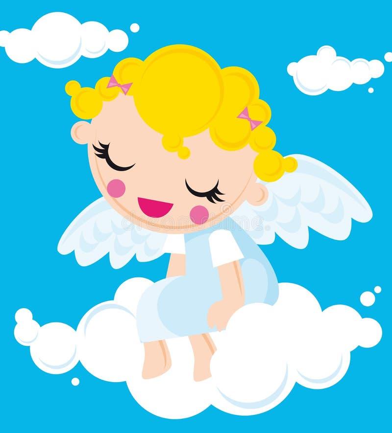 Poco angelo illustrazione vettoriale