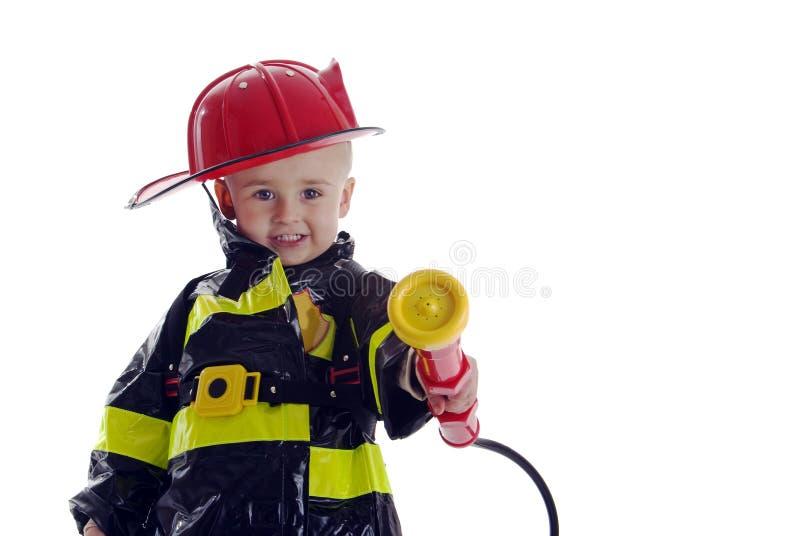 Poco bambino del combattente di fuoco immagini stock