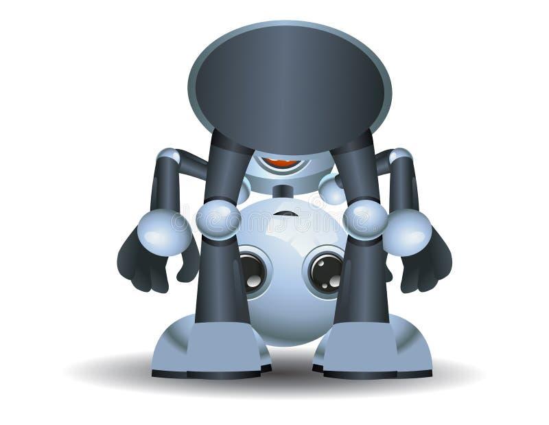 Poco bebé del robot que juega alrededor stock de ilustración