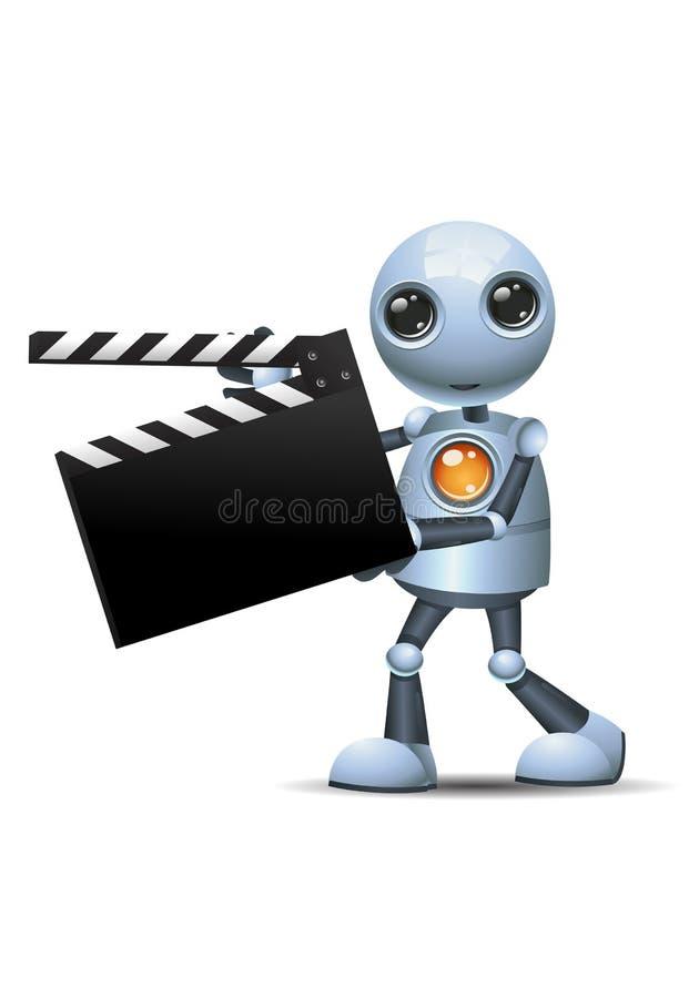 Poco bordo di clip di film della tenuta del robot illustrazione vettoriale