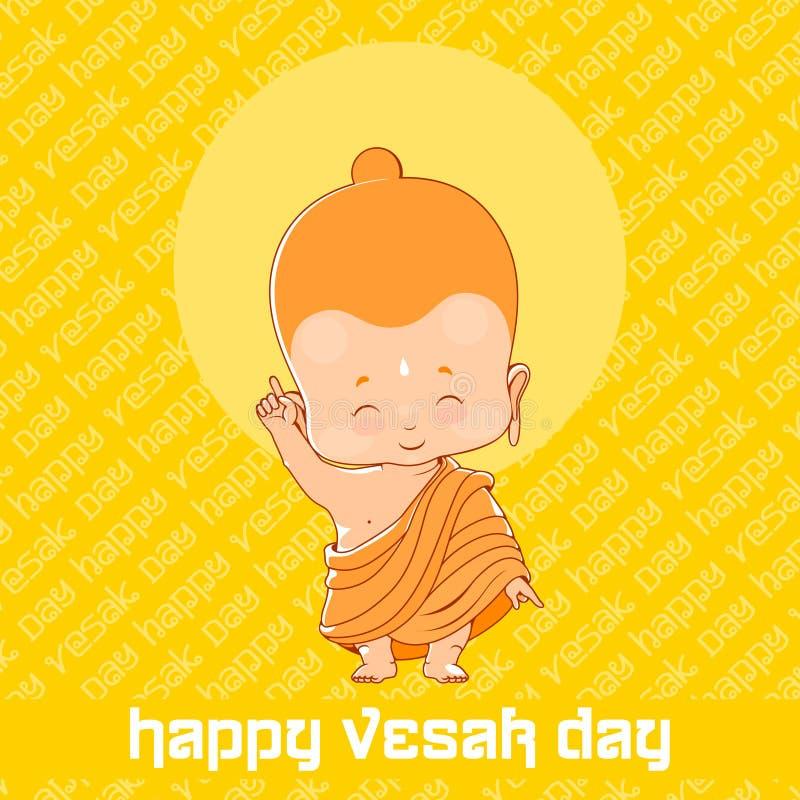 Poco Buda en el día feliz de Vesak libre illustration