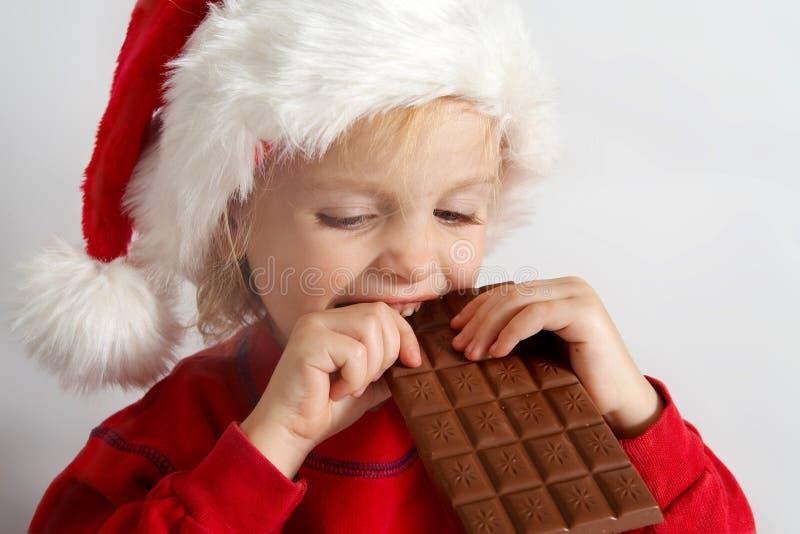 Poco cioccolato Santa immagine stock libera da diritti