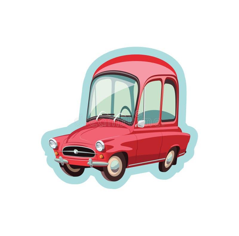 Poco coche rojo checo libre illustration