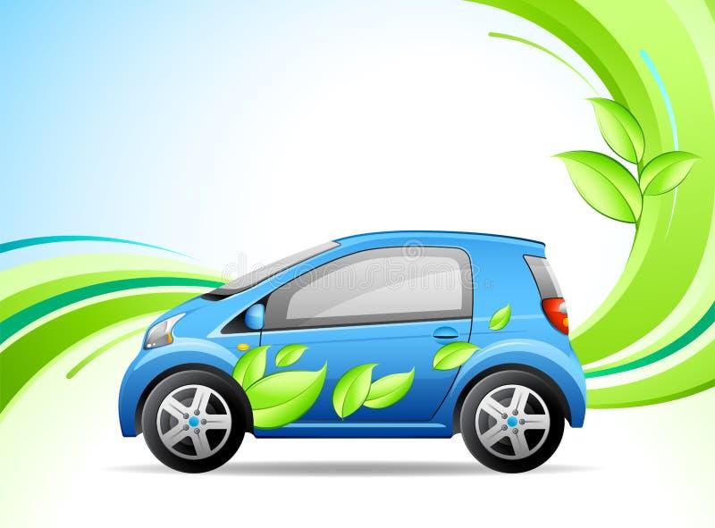 Poco coche verde stock de ilustración