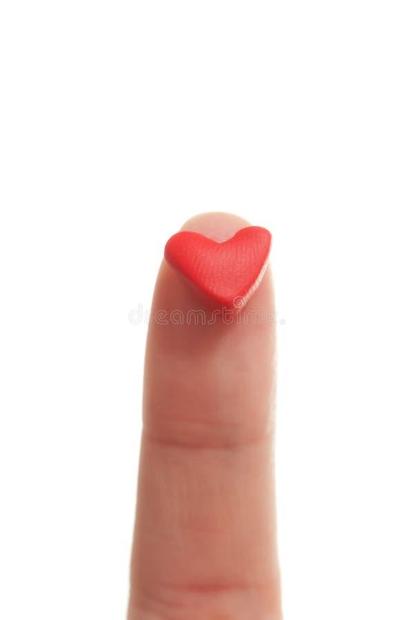 Poco corazón rojo de la tarjeta del día de San Valentín del St. imagen de archivo