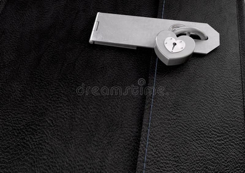 Poco diario Locked del cuoio nero immagini stock