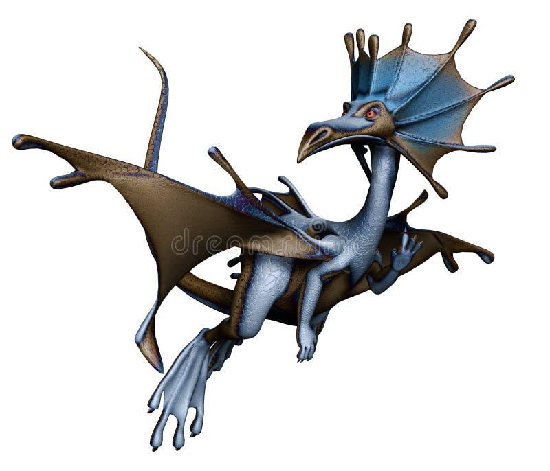 Poco dragón de la fantasía stock de ilustración