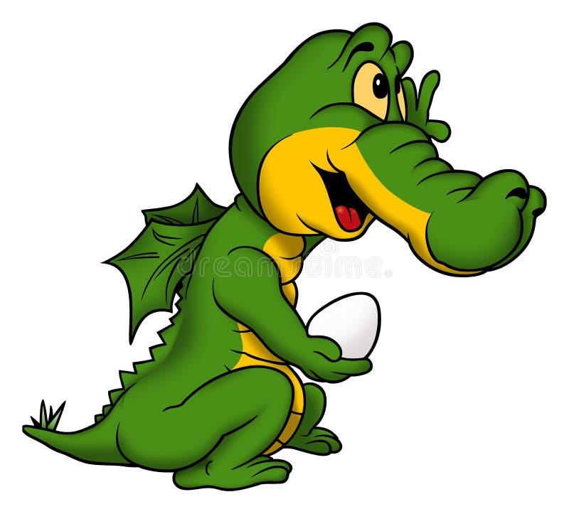 Poco dragón verde libre illustration