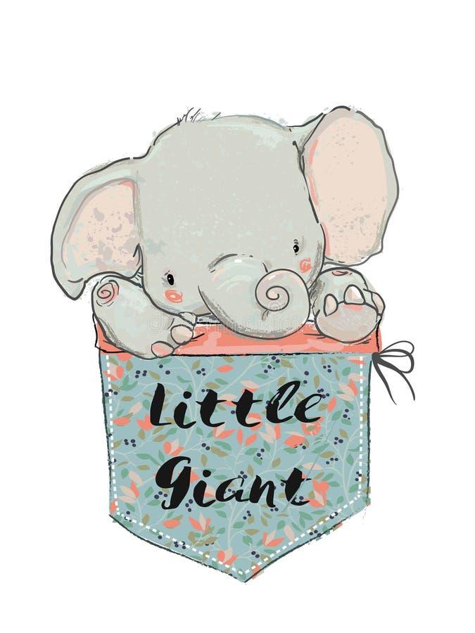 Poco elefante della tasca royalty illustrazione gratis