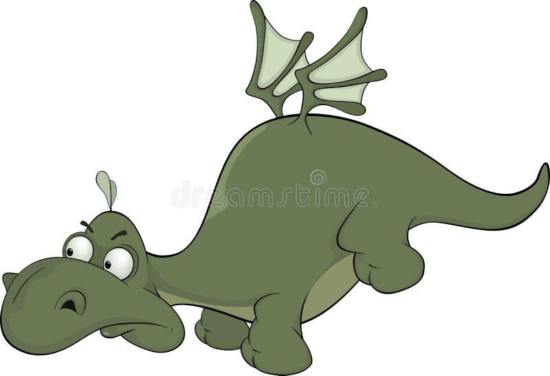 Poco fumetto del drago verde royalty illustrazione gratis