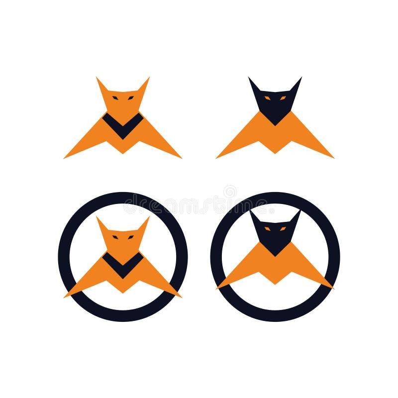 Poco icono y emblema del palo del héroe libre illustration