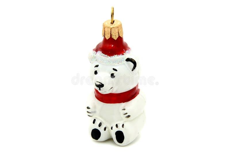 Poco juguete del árbol de navidad del oso imágenes de archivo libres de regalías