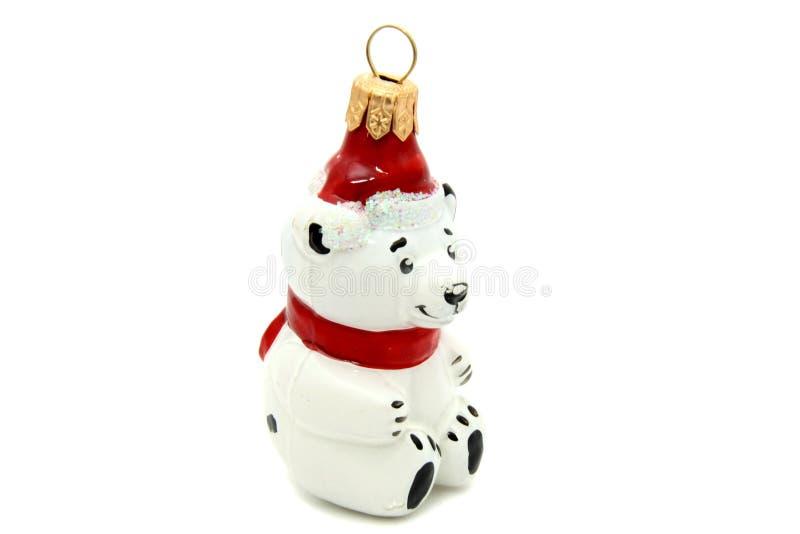 Poco juguete del árbol de navidad del oso imagenes de archivo
