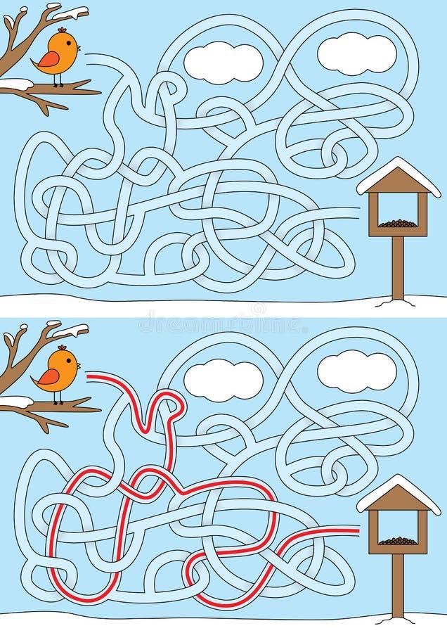 Poco laberinto del pájaro libre illustration